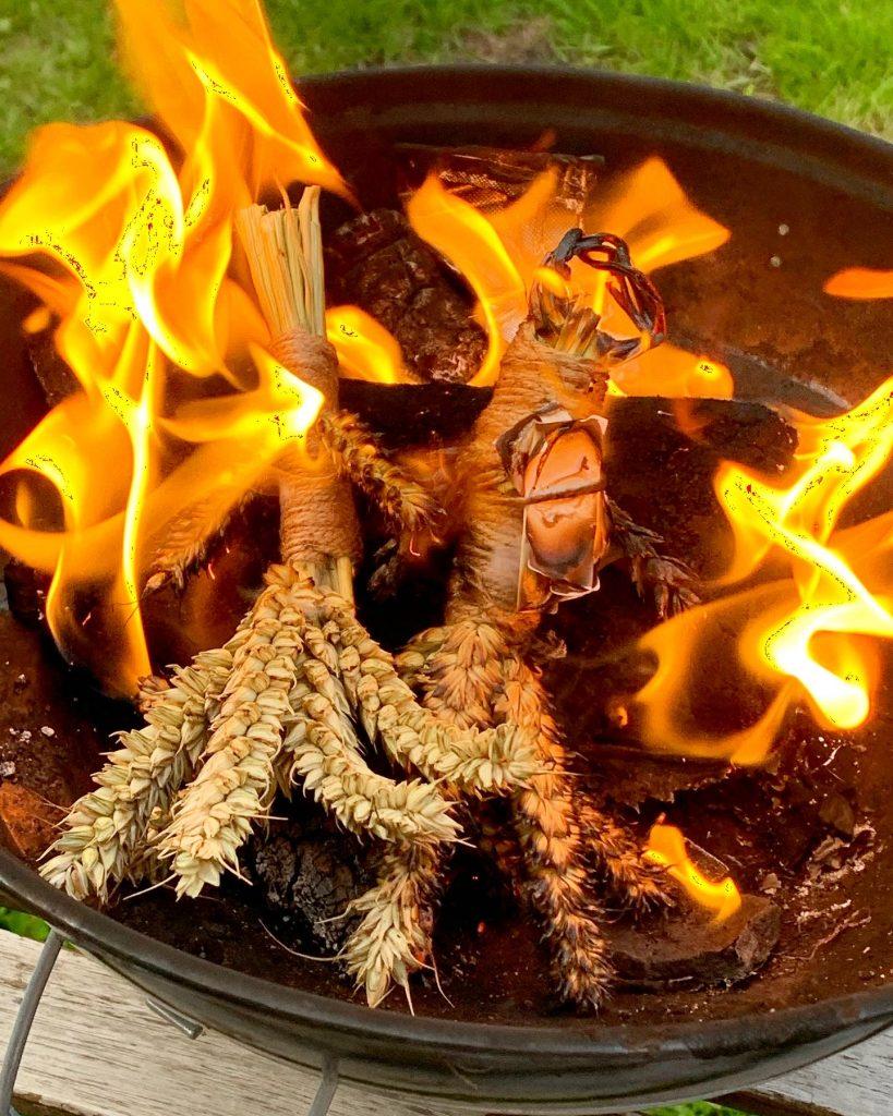 Lammas Corn Doll wish Effigies burning