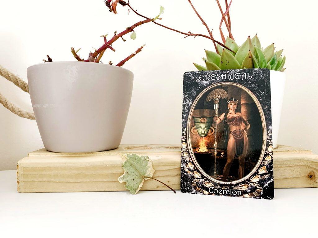 Dark Goddess Oracle Card - Ereshkigal