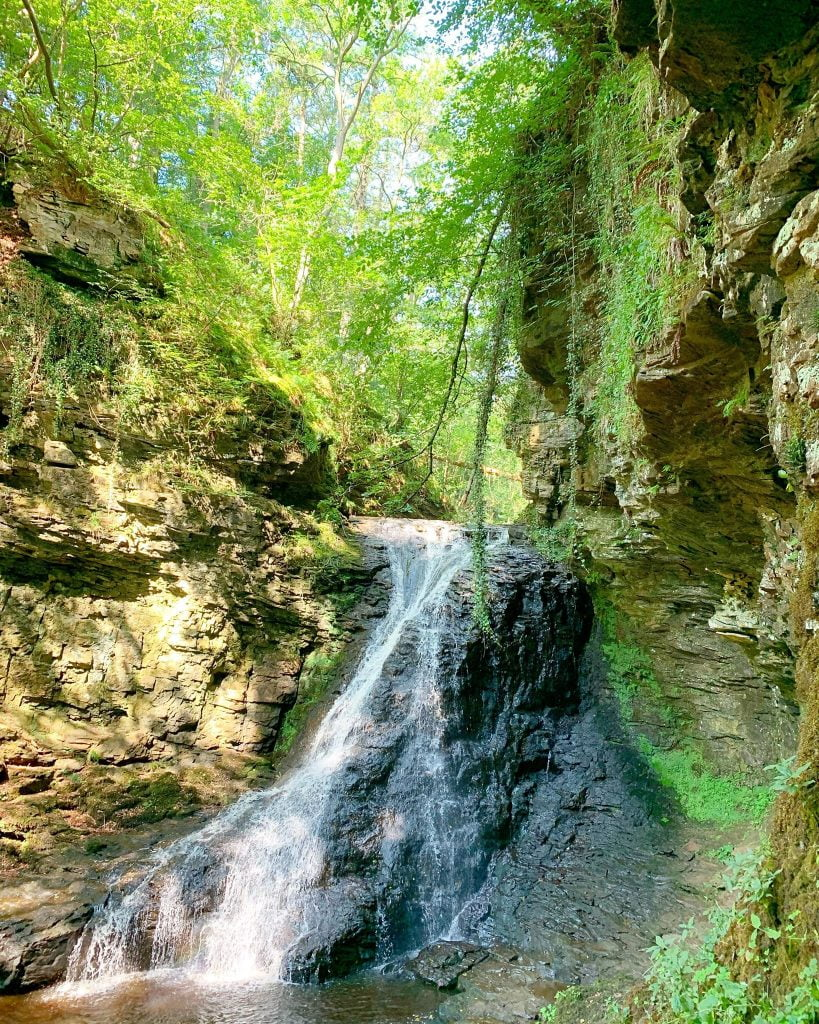Hareshaw Linn Waterfall