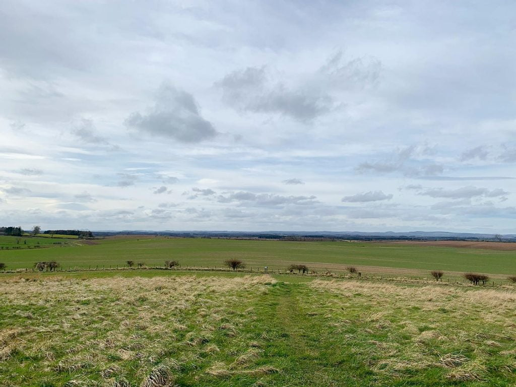 The view from Duddo Five Stones / Duddo Stone Circle