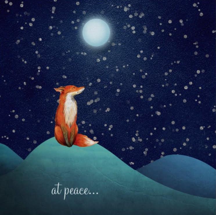 Fox and Full Moon
