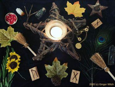 Autumnal Altar for Mabon / Autumnal Equinox / Fall Equinox