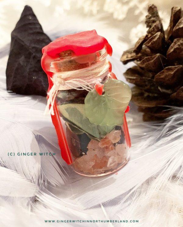 Yule Blessing Spell Jar