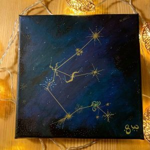 Aquarius Constellation Painting