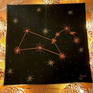 Leo Constellation - original acrylic artwork 20x20cm