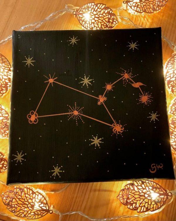 Leo Constellation - original acrylic artwork 20x20cm