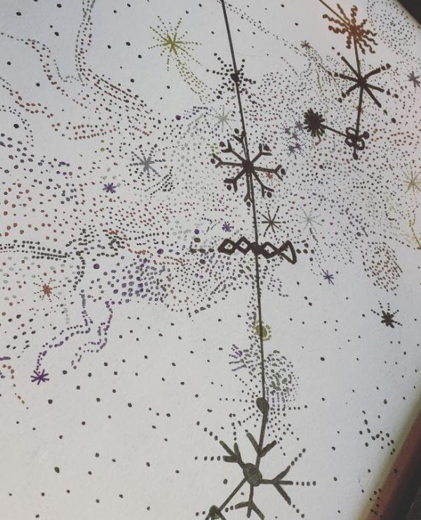 Scorpio Constellation Art - Black
