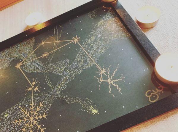 Libra Constellation Metallic Art