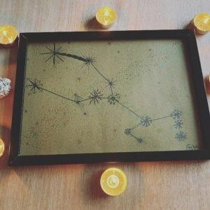 Taurus Constellation Art - Kraft