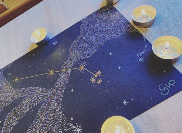 Aries Constellation Metallic Art