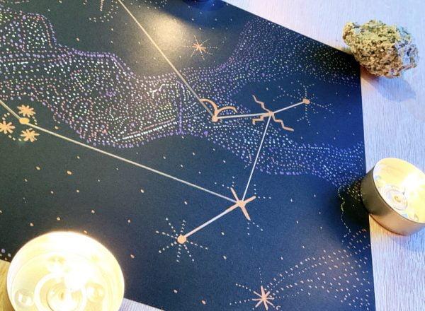 Gemini Constellation Metallic Art