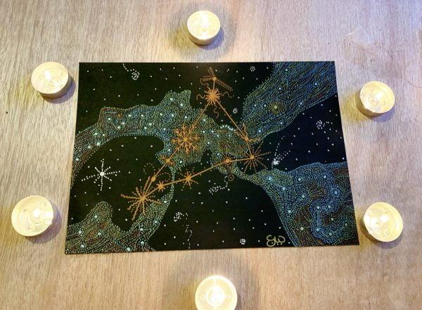 Capricorn Constellation Art