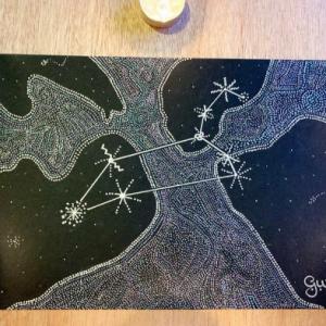 Leo Constellation Art