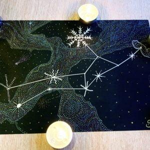 Virgo Constellation Metallic Art